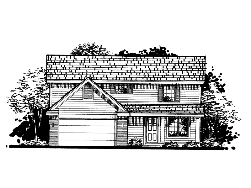 Traditional House Plan Front of Home - 072D-0807 | House Plans and More