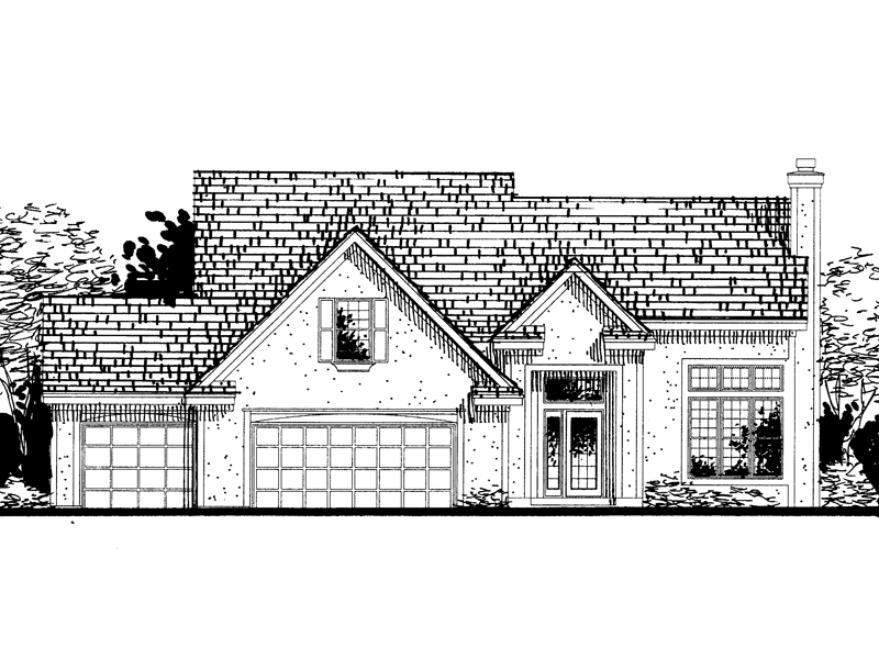 Traditional House Plan Front of Home - 072D-0808 | House Plans and More