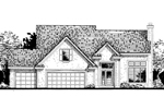 English Cottage Plan Front of Home - 072D-0808 | House Plans and More