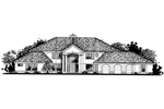 Sunbelt Home Plan Front of Home - 072D-0809 | House Plans and More