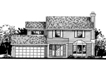 Traditional House Plan Front of Home - 072D-0811 | House Plans and More