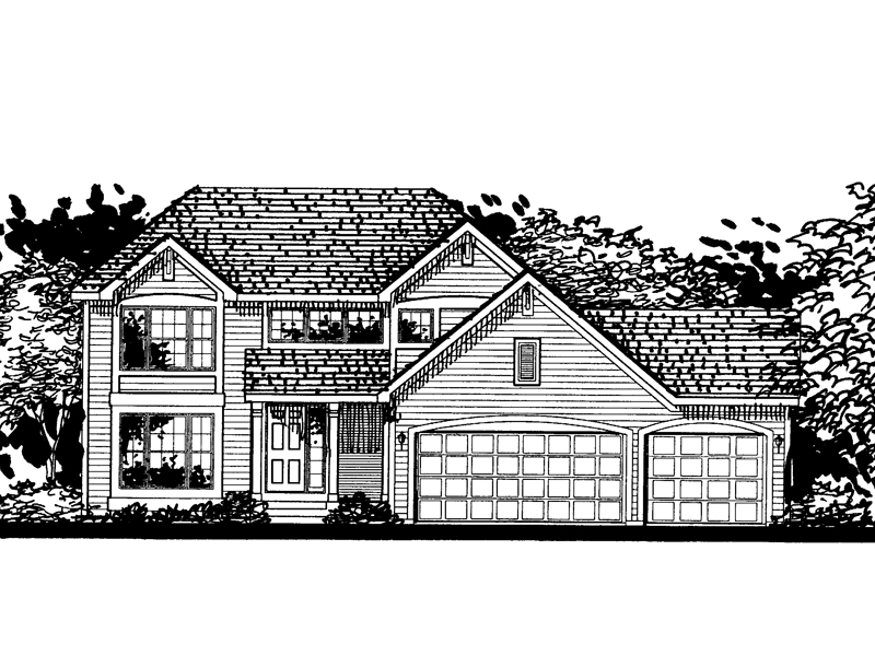 Traditional House Plan Front of Home - 072D-0812 | House Plans and More