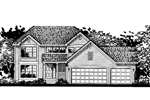 Southern House Plan Front of Home - 072D-0812 | House Plans and More
