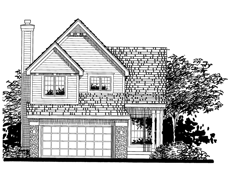 Southern House Plan Front of Home - 072D-0813 | House Plans and More