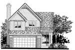Traditional House Plan Front of Home - 072D-0813 | House Plans and More