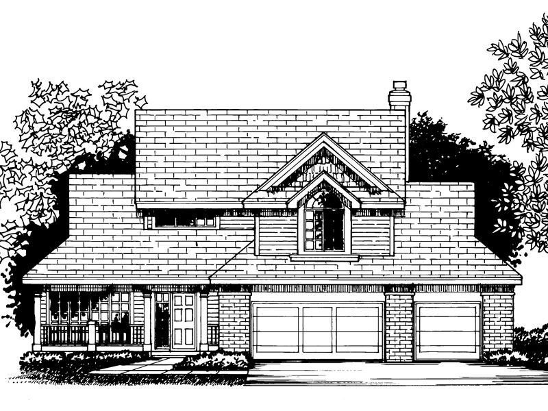 Bungalow House Plan Front of Home - 072D-0814 | House Plans and More