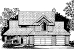 Farmhouse Plan Front of Home - 072D-0814 | House Plans and More