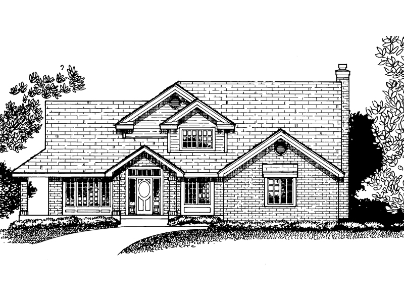 Country House Plan Front of Home - 072D-0815 | House Plans and More
