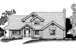 Contemporary House Plan Front of Home - 072D-0815 | House Plans and More