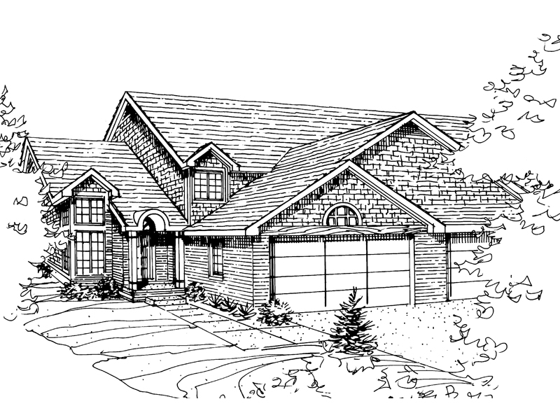 Traditional House Plan Front of Home - 072D-0816 | House Plans and More