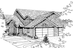 Multi-Family House Plan Front of Home - 072D-0816 | House Plans and More