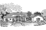 Southwestern House Plan Front of Home - 072D-0818 | House Plans and More