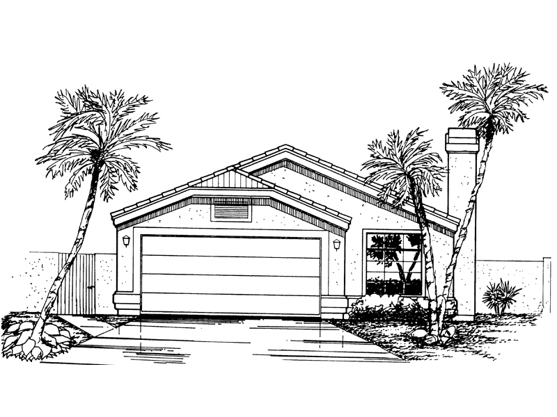Florida House Plan Front of Home - 072D-0823 | House Plans and More