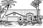 Southwestern House Plan Front of Home - 072D-0825 | House Plans and More