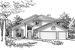 Santa Fe House Plan Front of Home - 072D-0827 | House Plans and More