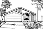 Ranch House Plan Front of Home - 072D-0832 | House Plans and More