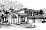 Spanish House Plan Front of Home - 072D-0834 | House Plans and More