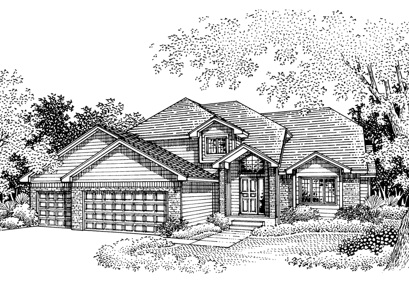Southern House Plan Front of Home - 072D-0837 | House Plans and More
