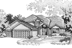Traditional House Plan Front of Home - 072D-0837 | House Plans and More