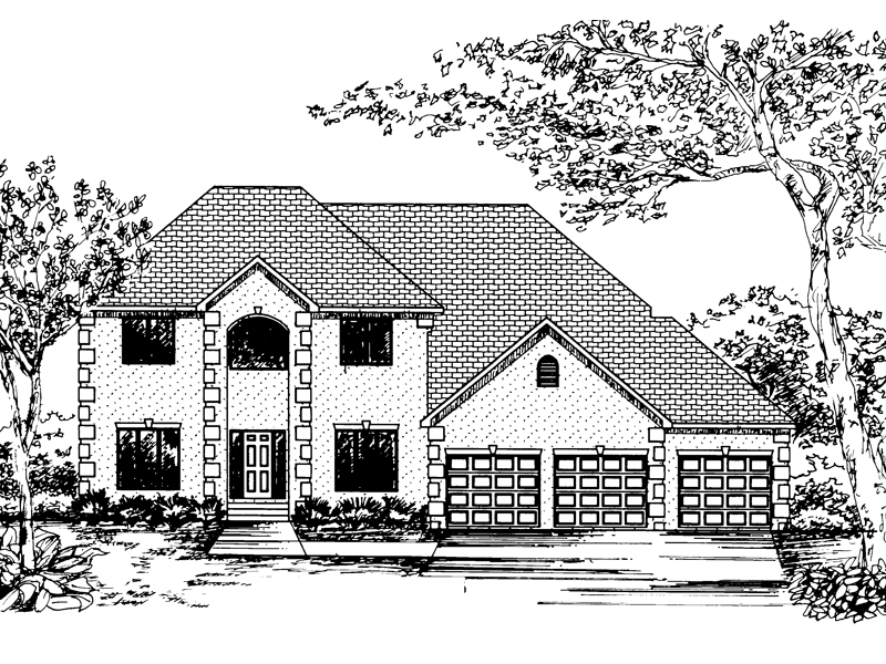 Traditional House Plan Front of Home - 072D-0838 | House Plans and More