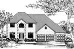 Georgian House Plan Front of Home - 072D-0838 | House Plans and More