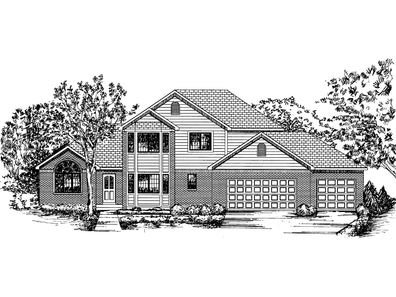 Traditional House Plan Front of Home - 072D-0839 | House Plans and More