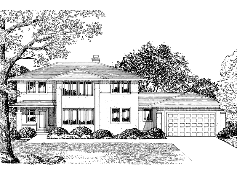 European House Plan Front of Home - 072D-0840 | House Plans and More