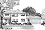 Contemporary House Plan Front of Home - 072D-0840 | House Plans and More