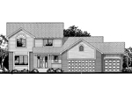 Farmhouse Plan Front of Home - 072D-0842 | House Plans and More