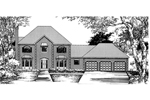 English Tudor House Plan Front of Home - 072D-0843 | House Plans and More