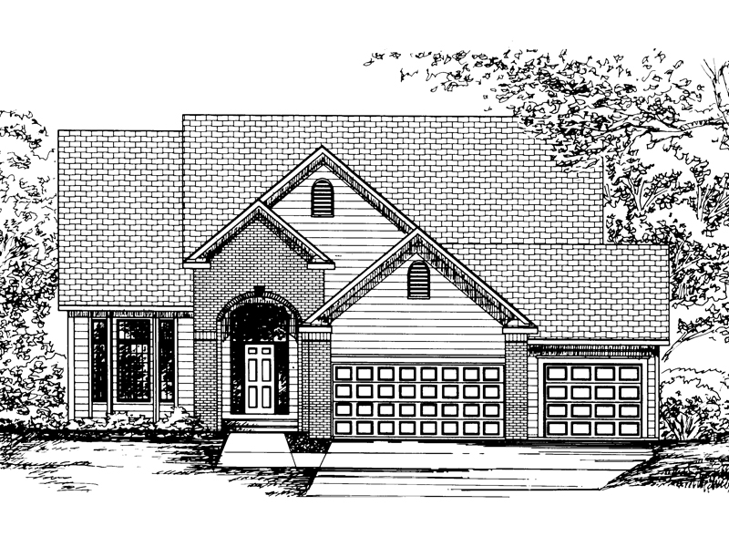 Traditional House Plan Front of Home - 072D-0844 | House Plans and More