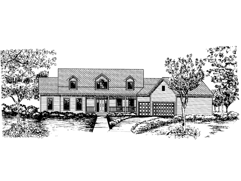 Cape Cod & New England House Plan Front of Home - 072D-0847 | House Plans and More
