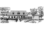 Farmhouse Plan Front of Home - 072D-0847 | House Plans and More