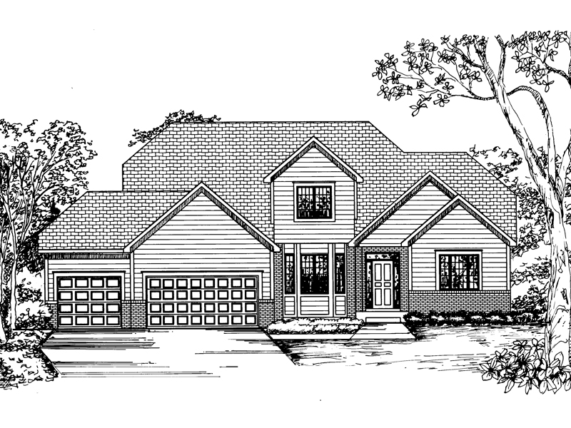 Modern House Plan Front of Home - 072D-0848 | House Plans and More