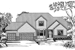 Traditional House Plan Front of Home - 072D-0848 | House Plans and More