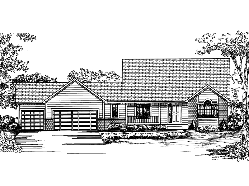 Traditional House Plan Front of Home - 072D-0849 | House Plans and More