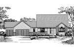 Southern House Plan Front of Home - 072D-0849 | House Plans and More