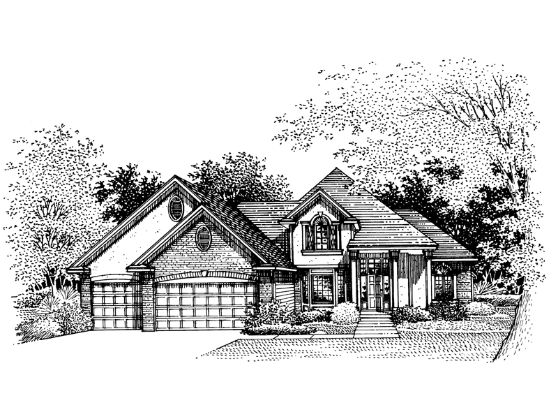 Country House Plan Front of Home - 072D-0855 | House Plans and More