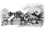 Neoclassical Home Plan Front of Home - 072D-0855 | House Plans and More