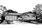 Southern House Plan Front of Home - 072D-0856 | House Plans and More