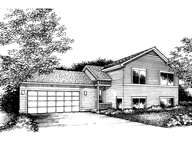 Modern House Plan Front of Home - 072D-0857 | House Plans and More