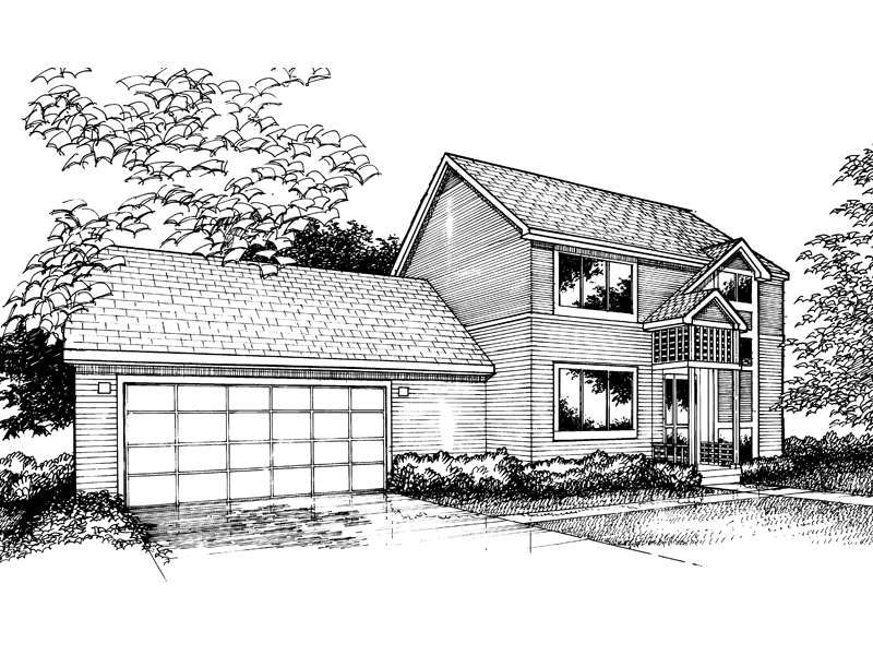 Traditional House Plan Front of Home - 072D-0858 | House Plans and More