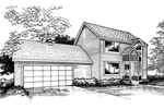 Modern House Plan Front of Home - 072D-0858 | House Plans and More