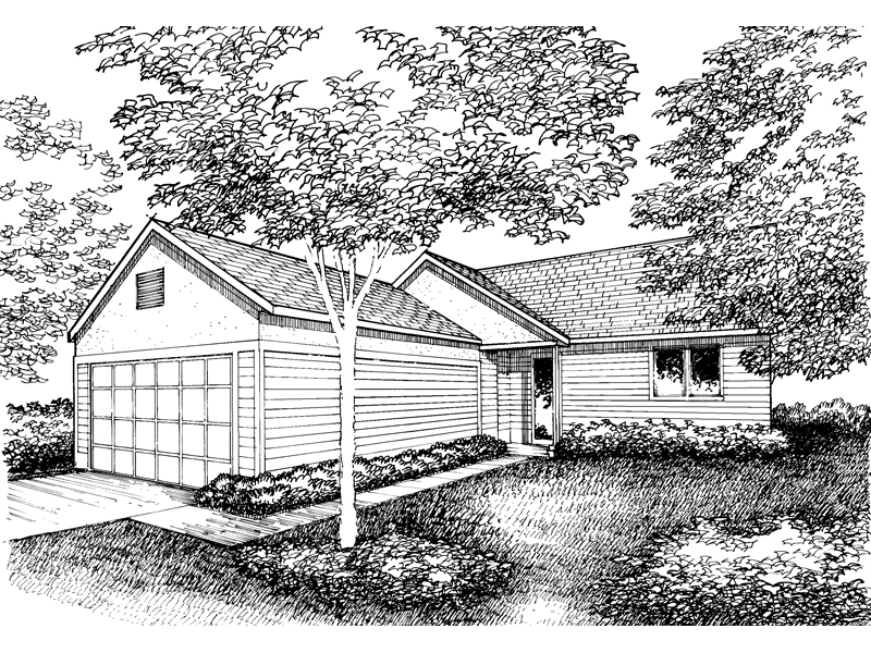 Traditional House Plan Front of Home - 072D-0859 | House Plans and More
