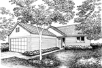 Ranch House Plan Front of Home - 072D-0859 | House Plans and More