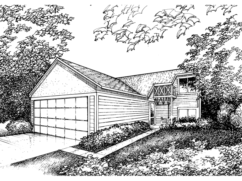 Traditional House Plan Front of Home - 072D-0860 | House Plans and More