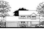 Modern House Plan Front of Home - 072D-0861 | House Plans and More