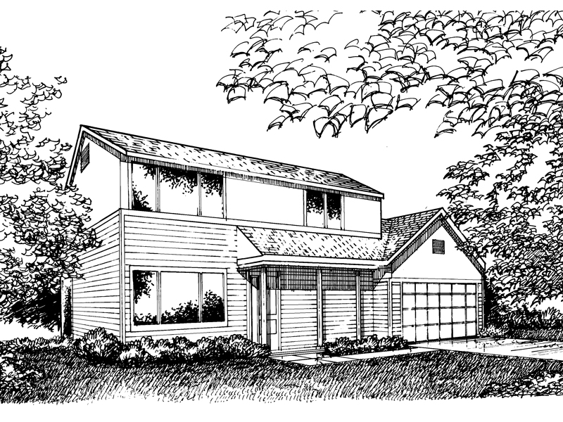 Traditional House Plan Front of Home - 072D-0862 | House Plans and More