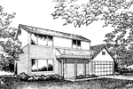Colonial Floor Plan Front of Home - 072D-0862 | House Plans and More