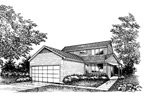 Southern House Plan Front of Home - 072D-0865 | House Plans and More